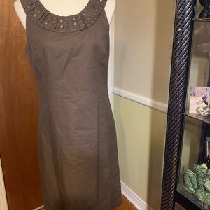 Willi Smith Brown 98% Cotton embellished Dress 10